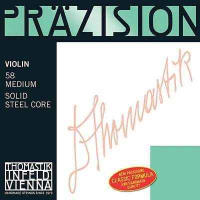 Thomastik Infeld Precision 4/4 Violin String Set - Chromesteel/Steel - Medium Gauge - Ball End E